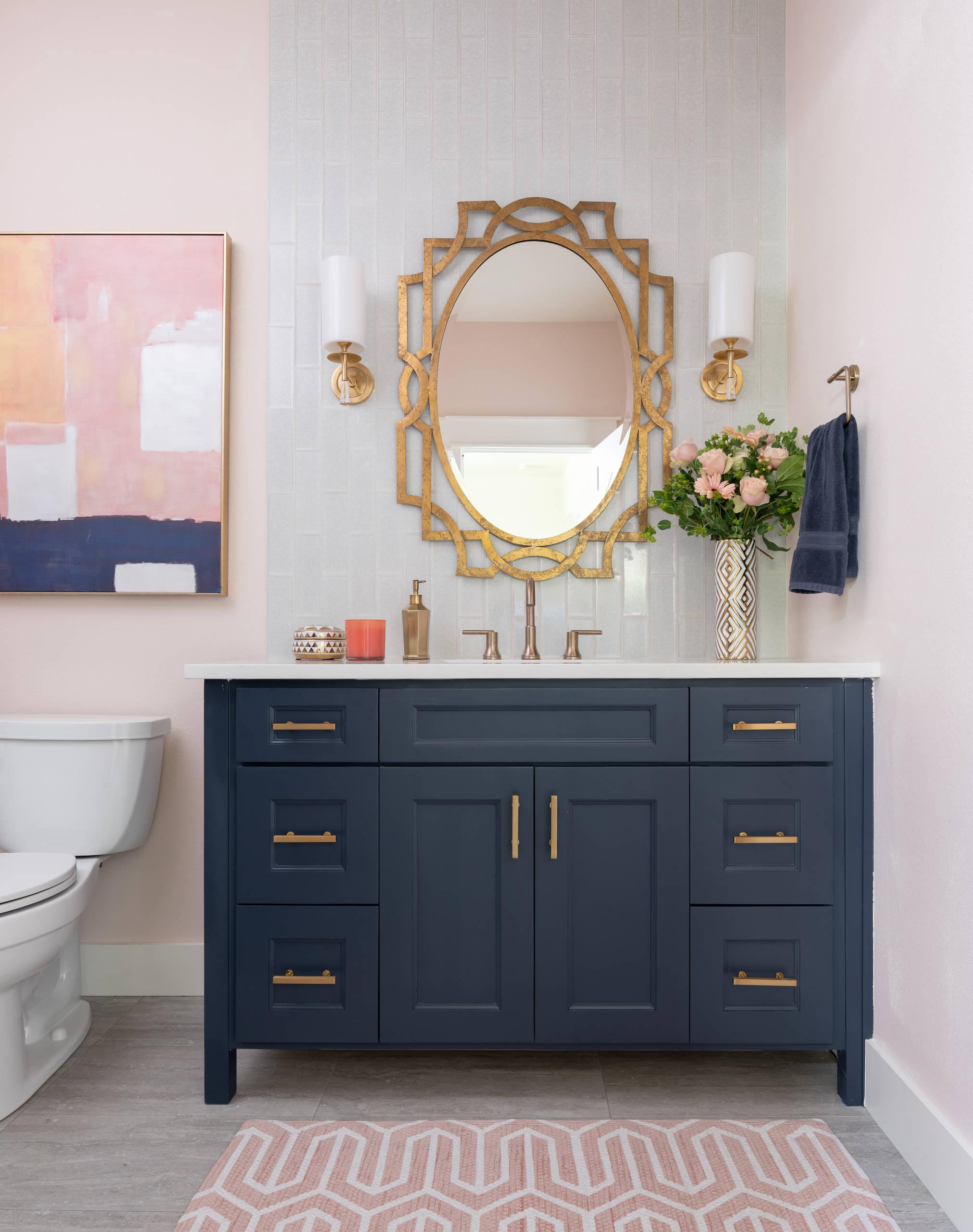 Blue And Gold Bathroom Ideas Photos Houzz