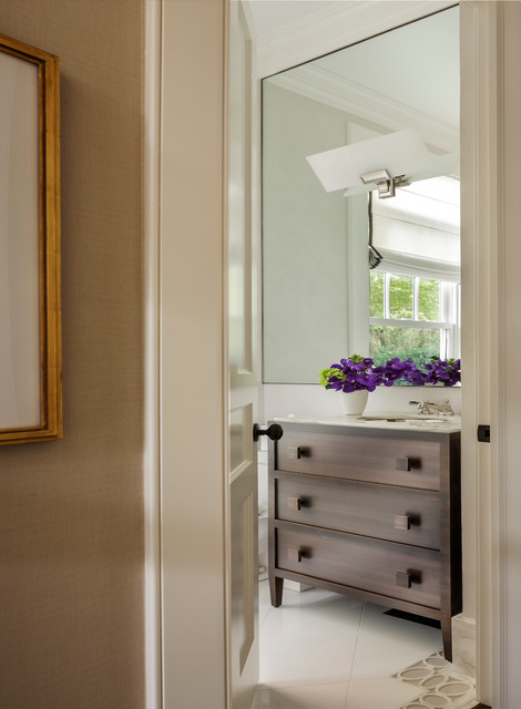 Estate In Southampton Transitional Bathroom New York By Ychelle Interior Design