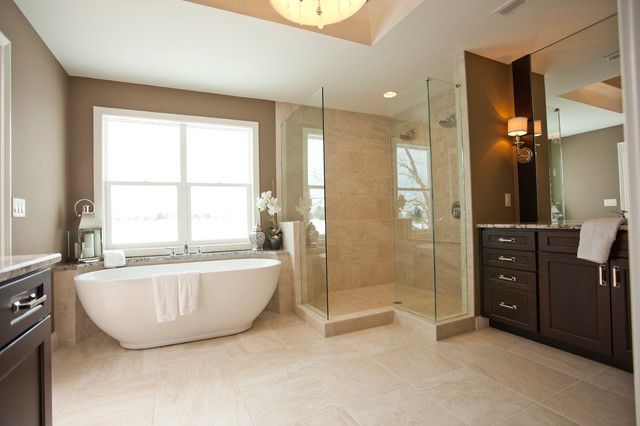 Transitional Master Bathroom Ideas : Transitional boxwood master bathroom