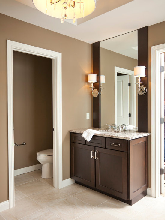 Budget earth tone colors bathroom design ideas pictures remodel decor - Exterior paint in bathroom set ...