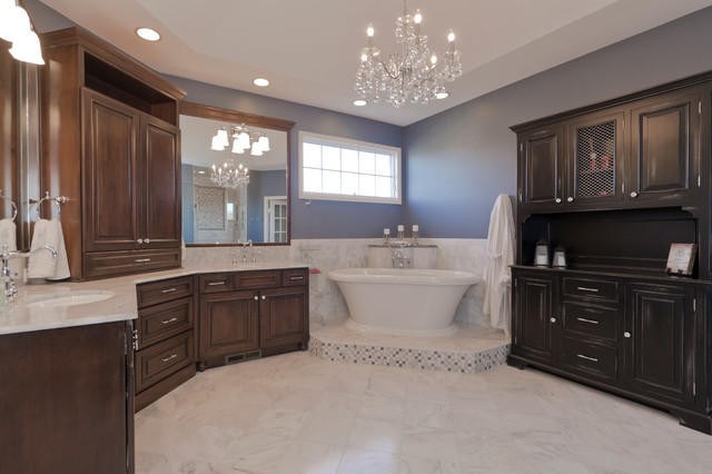 Simple Modern Naperville Bath In Cool Tones  Contemporary  Bathroom  Other