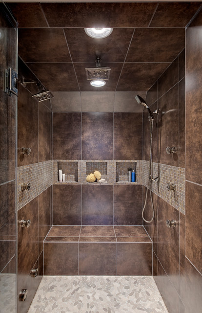 Transitional Master Bath - Contemporary - Bathroom - Chicago - by Drury Design