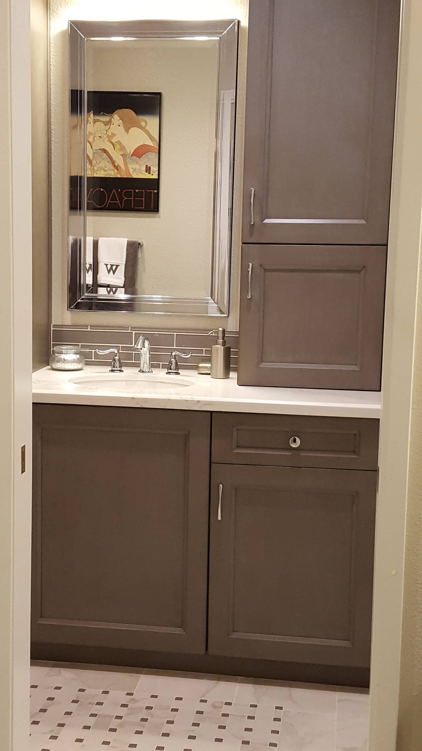 Transitional Master-bath,  Fountain Valley CA