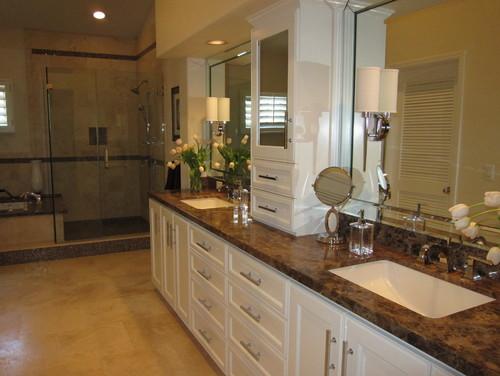 Master bath shower contemporary bathroom san francisco by - Paramount Granite Blog 187 5 Emperador Dark Marble Ideas For