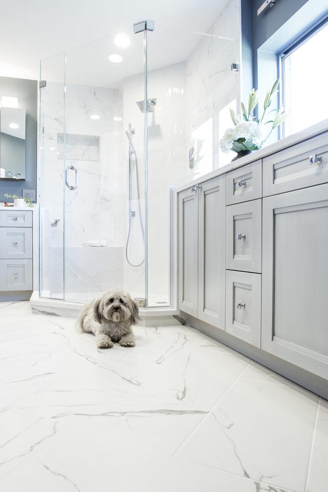 Transitional Master Bathroom Remodel Frederick, MD ...