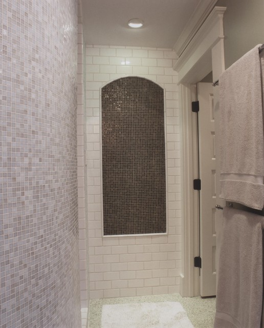 Transitional Master Shower contemporary-bathroom
