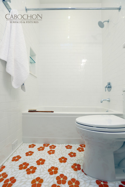 Transitional Oceanfront, La Jolla - Transitional - Bathroom - san diego - by Cabochon Surfaces ...