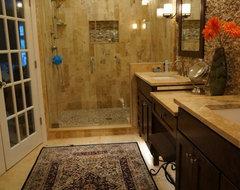 Transitional Spa Retreat traditional-bathroom