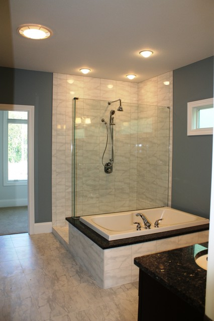 Transitional Speculative Home Traditional Bathroom