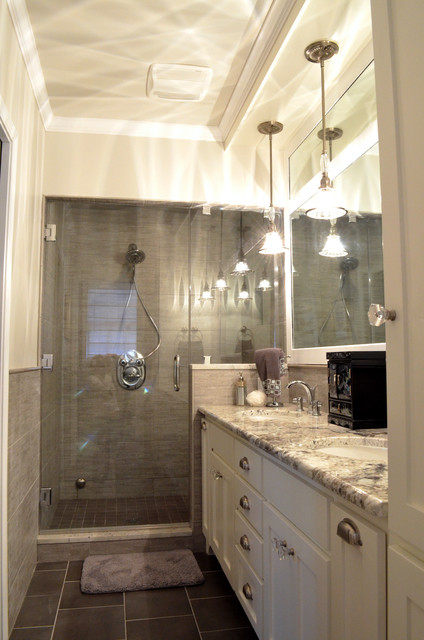 Transitional Master Bathroom Ideas : Transitional style master bath renovation