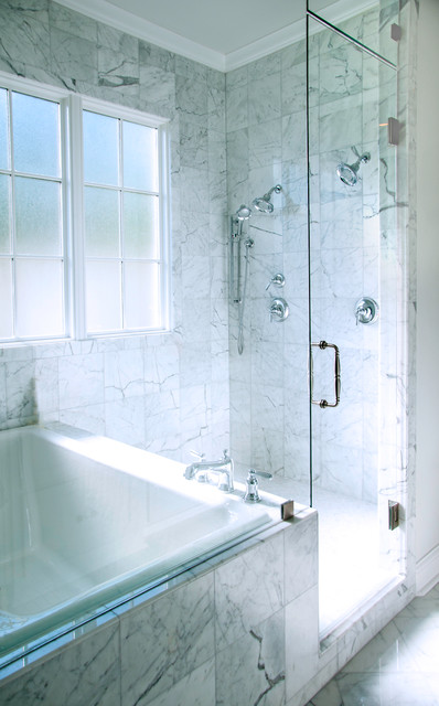 Transparent combination spa and shower traditional for Accents salon bellingham