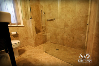 Bathroom Vanities Tampa on Travertine Bath   Contemporary   Bathroom   Tampa   By S W Kitchens