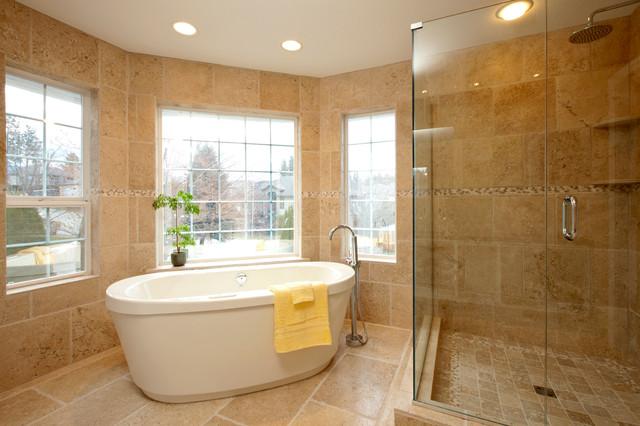 Travertine Bathroom traditional-bathroom