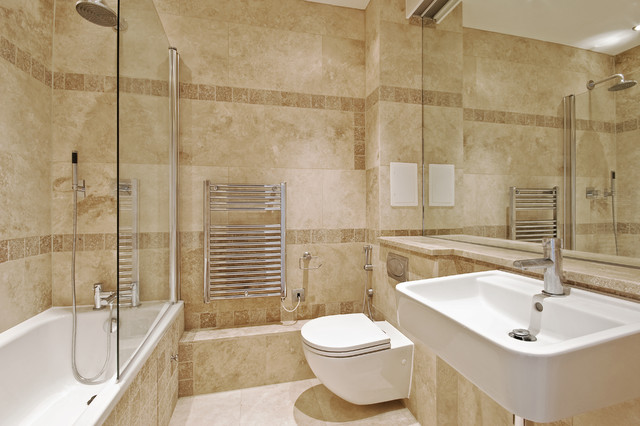 Travertine Bathroom from Royal Stone & Tile - mediterranean