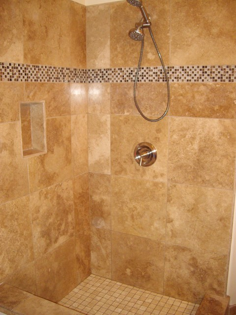 Houzz bathroom travertine - Travertine Mediterranean Bathroom San Diego By Guedes