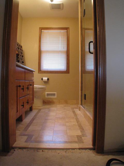 Travertine Master Bath traditional-bathroom