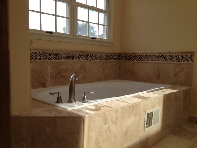 Travertine tile mediterranean bathroom philadelphia for Bathroom tile philadelphia