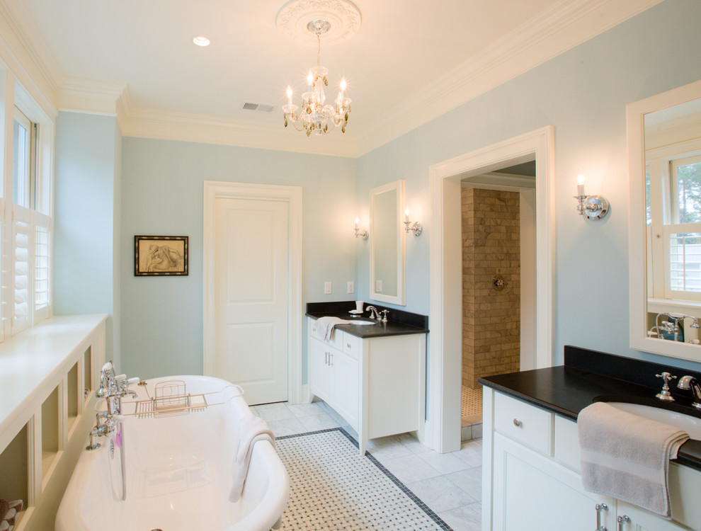 Inspiration for a timeless mosaic tile bathroom remodel in Charleston