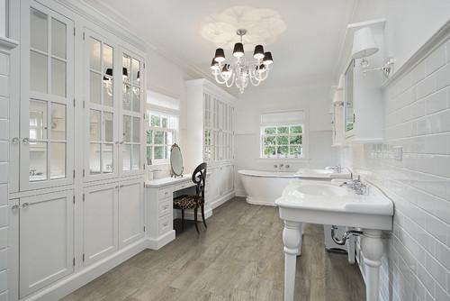 wood-look porcelain tile