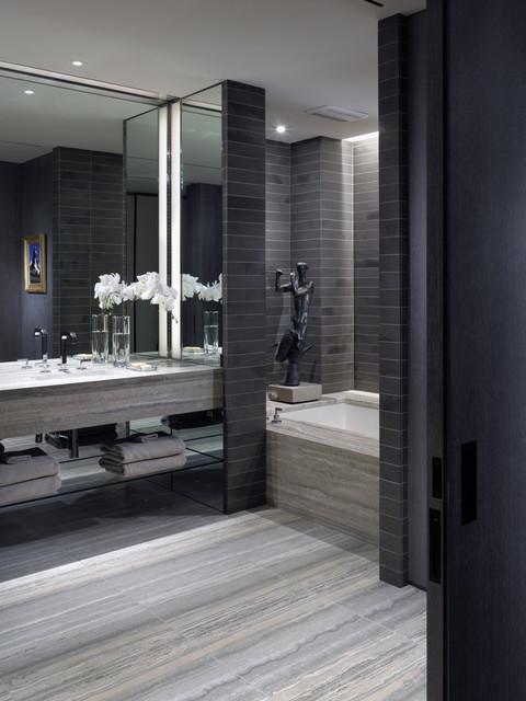 Tribeca Loft Modern Bathroom New York By Gath Interior Design