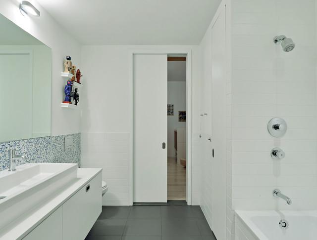 Tribeca Loft modern-bathroom