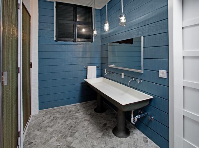 Superb Industrial Bathroom by threshold interiors
