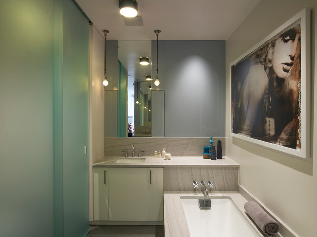 Tribeca Residence contemporary-bathroom