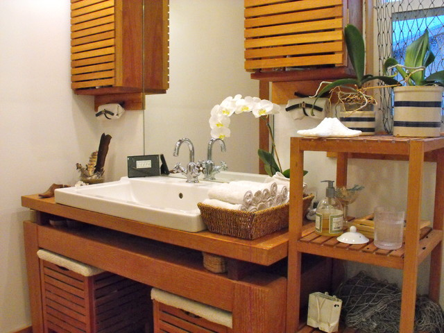 asian bathroom by Rough Linen