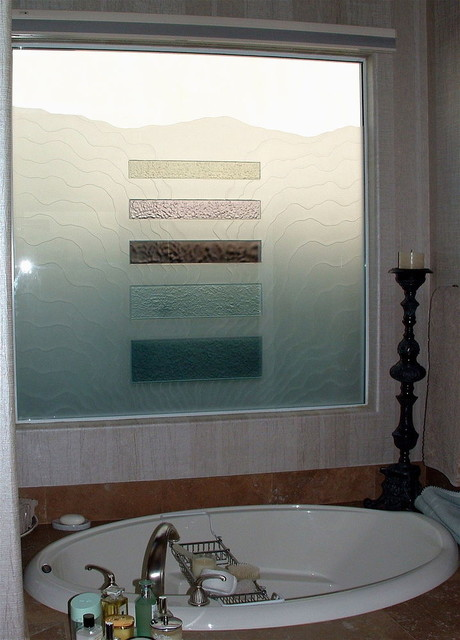 Triptic Waves Bathroom Windows Frosted Glass Designs Privacy Glass Bathroom Other By