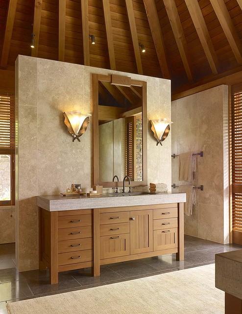 International Style tropical-bathroom