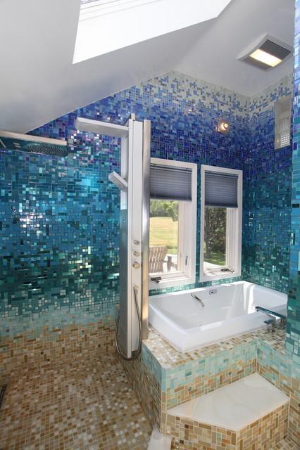 Tropical Bathroom Tile Ideas : Tropical bathroom other metro by