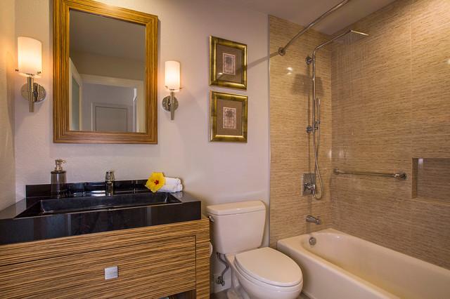 Tropical Contemporary Guest Bath