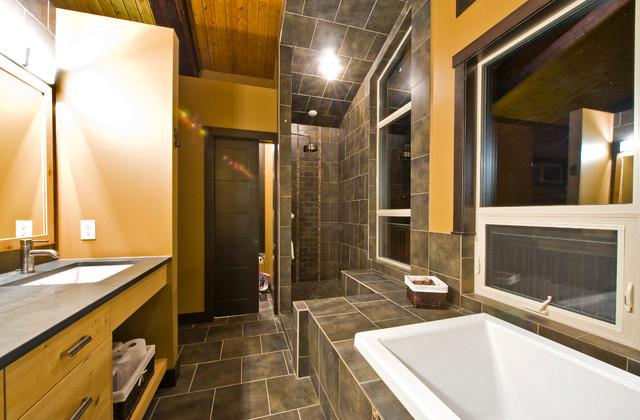 Trout Wrangler Lodge traditional-bathroom