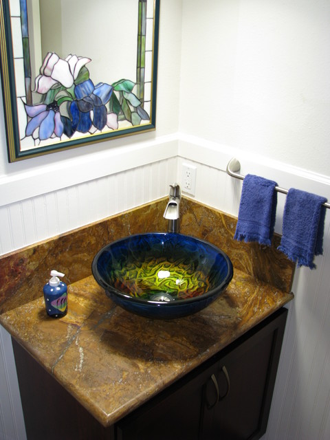 Bathroom Sinks Glass true planet glass sink bowl - tropical - bathroom - cedar rapids