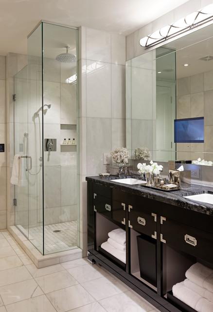Trump hotel toronto contemporary bathroom toronto for Hotel bathroom design gallery