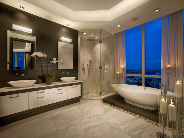 Bathroom Design Miami trump tower | miami apartment - contemporary - bathroom - miami