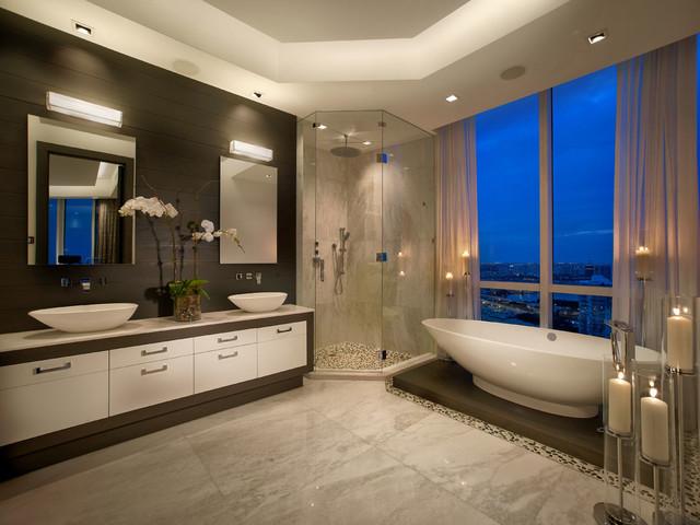 Trump Tower Miami Apartment Contemporary Bathroom Miami By Guimar Urbina Kis