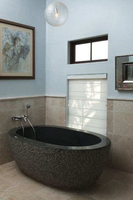 try this eclectic-bathroom