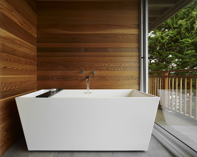 Tub alcove modern bathroom