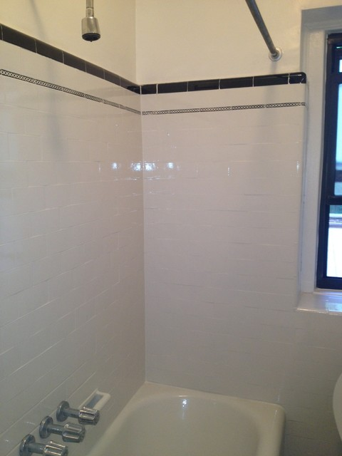 Refinish Bathroom Tile tub and wall tile reglazing/refinishing masking trim