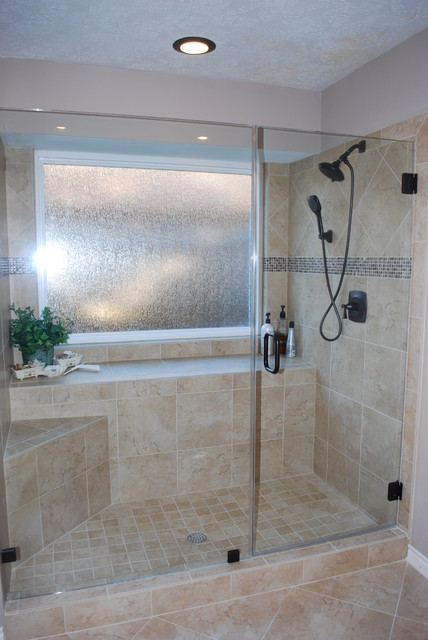 Tub To Shower Conversion After Remodel Traditional Bathroom