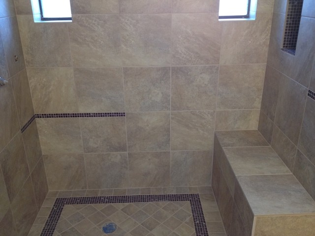Tub To Shower Conversion Contemporary Bathroom Other Metro By Tile