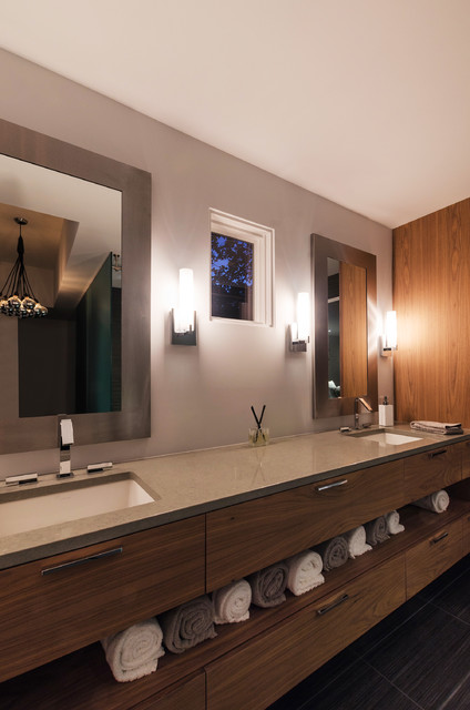 Tube Vanity Wall Sconce Contemporary Bathroom