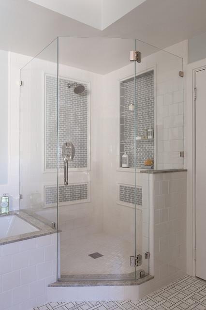 Tudor home master bathroom traditional bathroom san for Tudor bathroom design