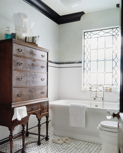 Edwardian bathroom design photos victoriana magazine for Small bathroom design houzz