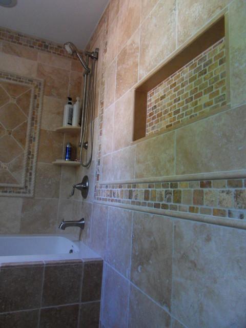 Tumbled Travertine Bathroom Traditional Bathroom