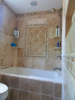 Tumbled Travertine Bathroom Traditional Bathroom Philadelphia By Stonemar Natural Stone