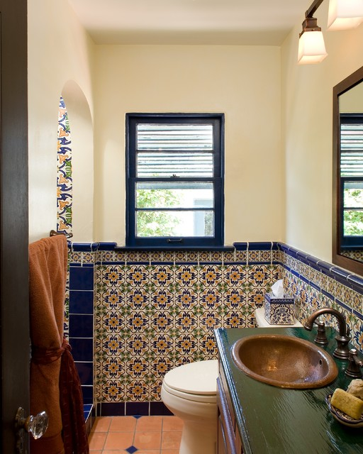 Tupper kitchen and bathroom remodel mediterranean bathroom san diego by avente tile - Bathroom design san diego ...