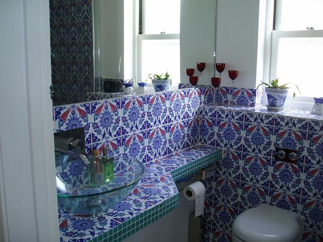 Turkish Tiles Mediterranean Bathroom London By