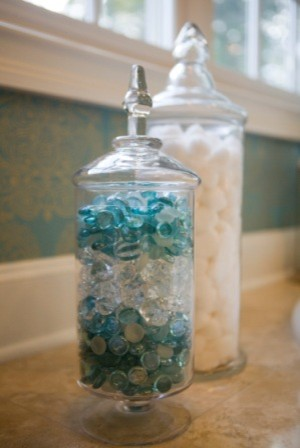 Turquoise and Crystal eclectic-bathroom